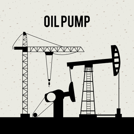 filling material: oil pump design over white background vector illustration