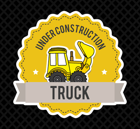 under construction design over dotted background vector illustration Stock Vector - 29761861