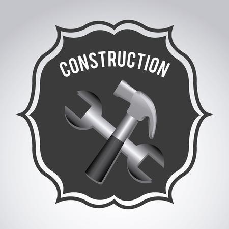 under construction design over  gray background vector illustration Stock Vector - 29761867