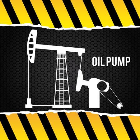 petrochemistry: dise�o de la bomba de aceite sobre el patr�n de fondo ilustraci�n vectorial