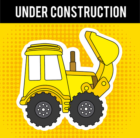 under construction design over yellow  background vector illustration Stock Vector - 29761874