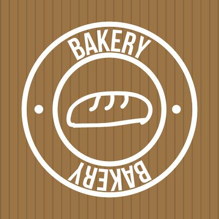bakery design over brown  background vector illustration Vector