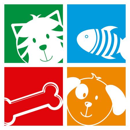 fish exhibition: pets design over white background vector illustration Illustration