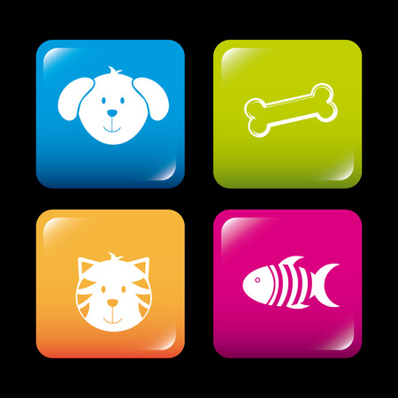 fish exhibition: pets design over black background vector illustration Illustration