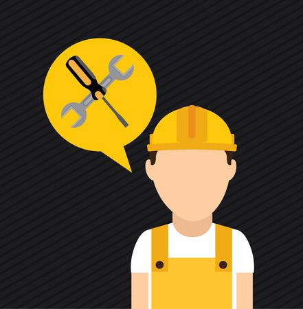 construction design over black background vector illustration Illustration