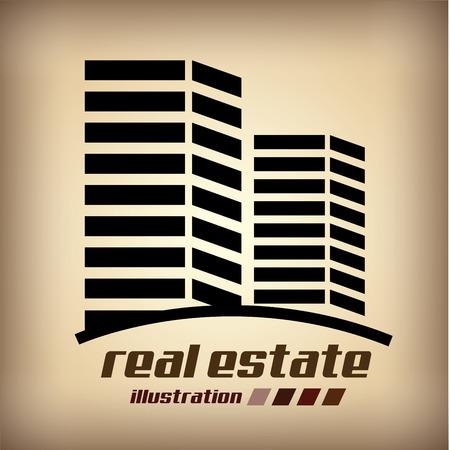 hometown: real estate design over beige background vector  illustration