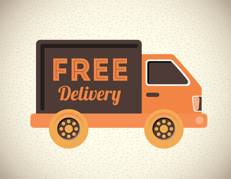 free shiping: delivery design over gray  background vector illustration