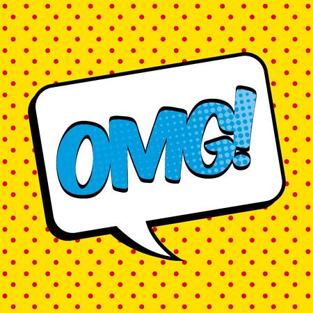 word art: Pop art design over yellow background, vector illustration Illustration