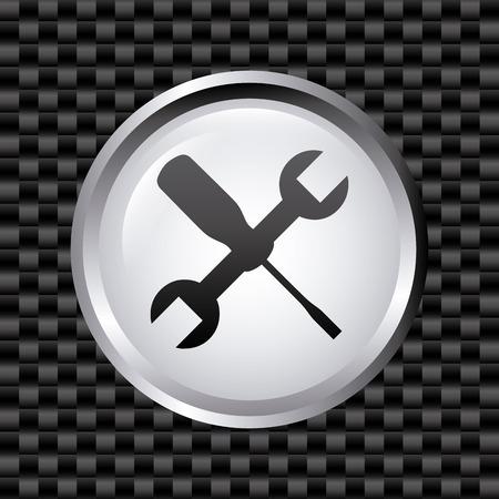 Herramientas de diseño sobre fondo gris, ilustración vectorial Foto de archivo - 30209322