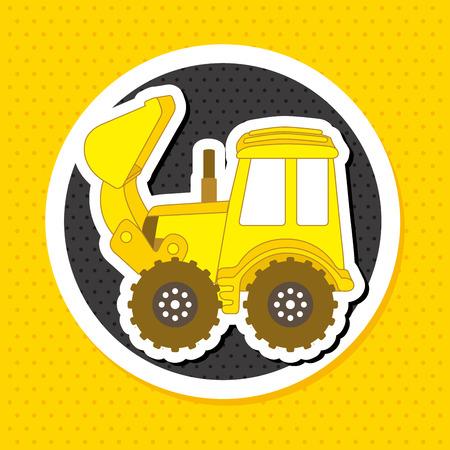 yelllow: Construction design over yelllow background, vector illustration Illustration