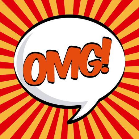 El diseño del arte pop sobre rayas rojo y amarillo de fondo, ilustración vectorial Foto de archivo - 30209731