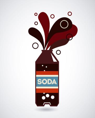 soda splash: Drinks design over gray background, vector illustration Illustration