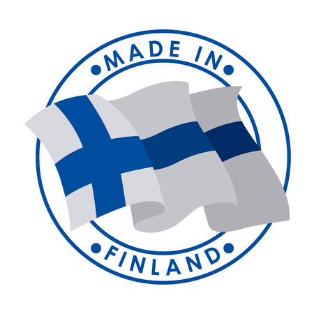 made in finland: Finland design over white background, vector illustration
