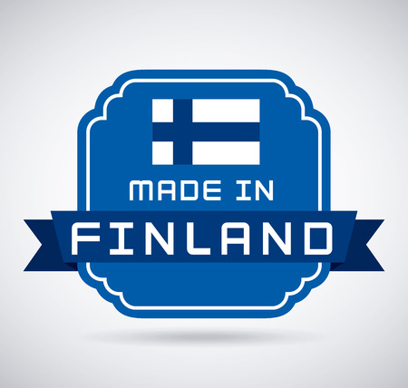 Finland design over white background, vector illustration Vector