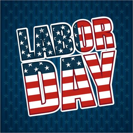 labor: Labor day design over blue background, vector illustration