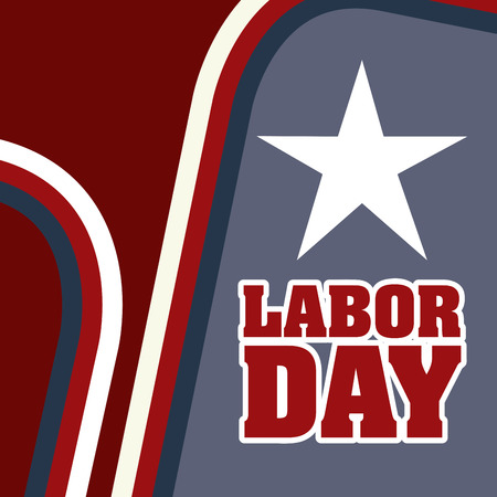 workers rights: labor day over brown background vector illustration Illustration