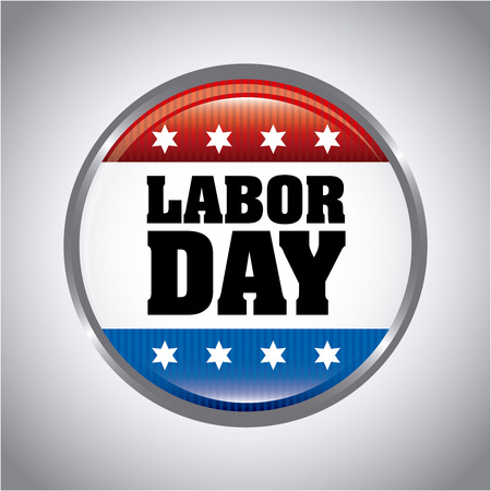 workers rights: labor day over gray background vector illustration Illustration