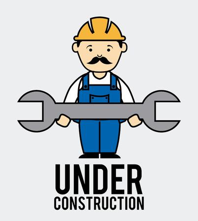 worker design over white background vector illustration Vector