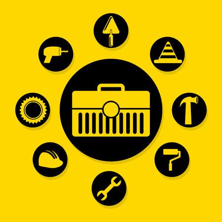 worker design over yellow background vector illustration Vector