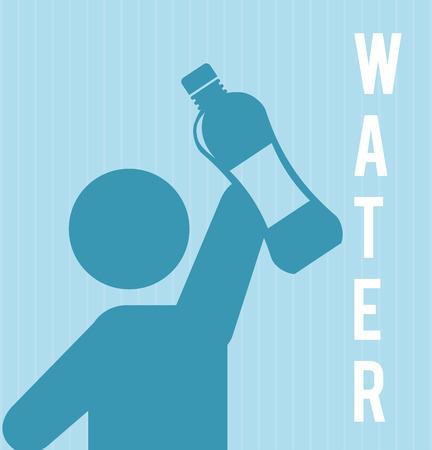 ahorrar agua: dise�o del agua sobre fondo azul ilustraci�n vectorial Vectores