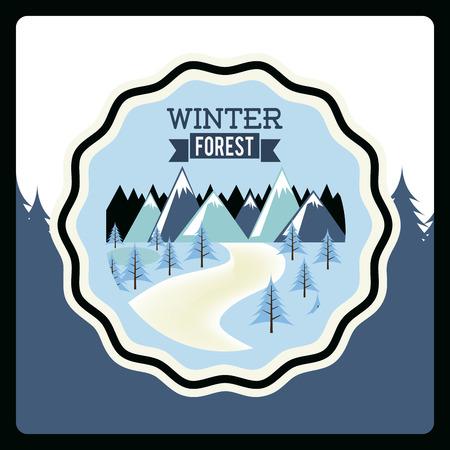 wheater: forest design over white background vector illustration