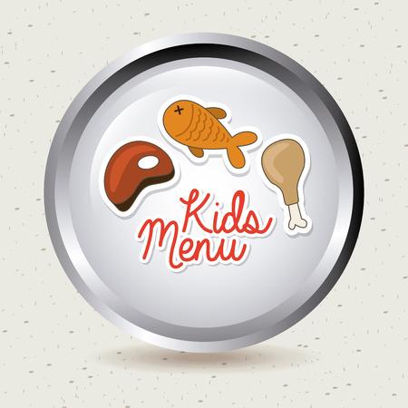 menu kids over gray background vector  illustration Vector