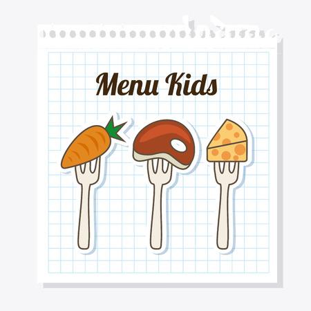 menu kids over white background vector  illustration Vector