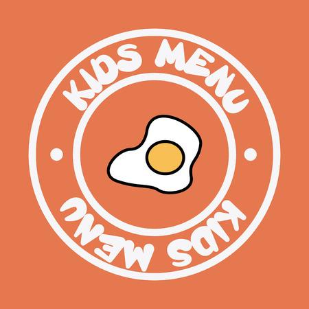 menu kids over pink background vector  illustration Vector