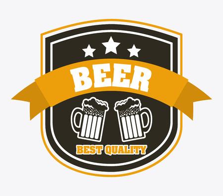 beer design over white background vector illustration