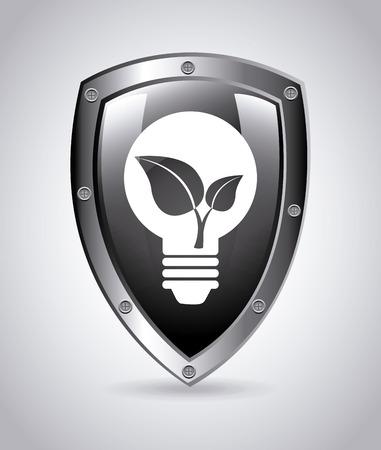 smart goals: bulb design over gray background vector illustration