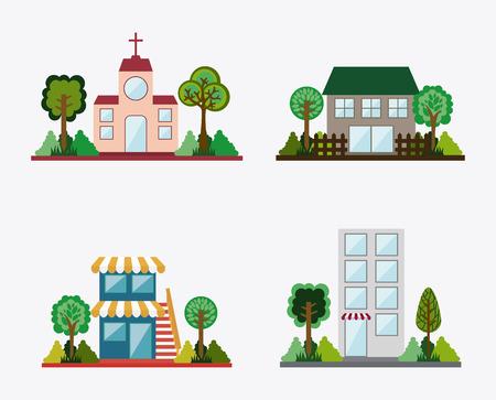 real state: real estate design over background vector illustration