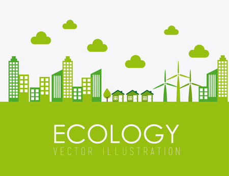 Ecology design over white background, vector illustration Vector