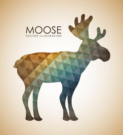 Animal design over beige background, vector illustration Vector