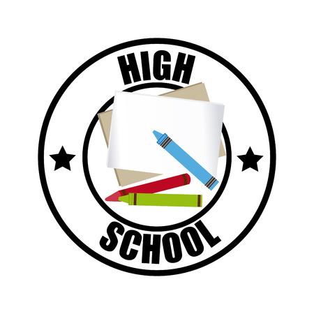 crayola back to school design over white background vector illustration illustration - Crayola Sign
