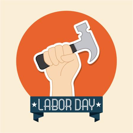 Labor day design over beige background, vector illustration Vector