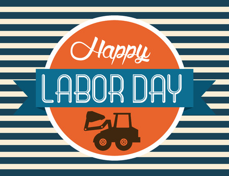the day: Labor day design over blue background, vector illustration
