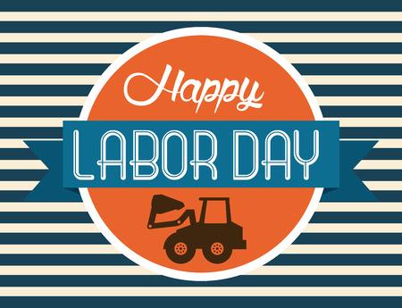 day: Labor day design over blue background, vector illustration