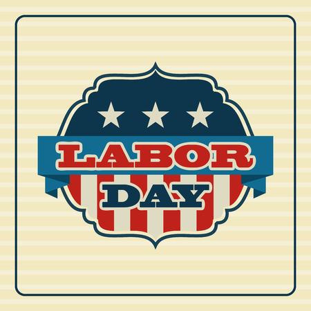 Labor day design over beige background, vector illustration Illustration