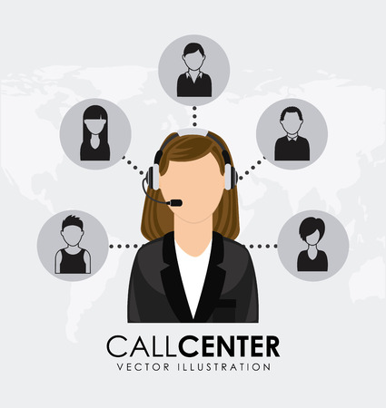 Call center design over white background, vector illustration Vector