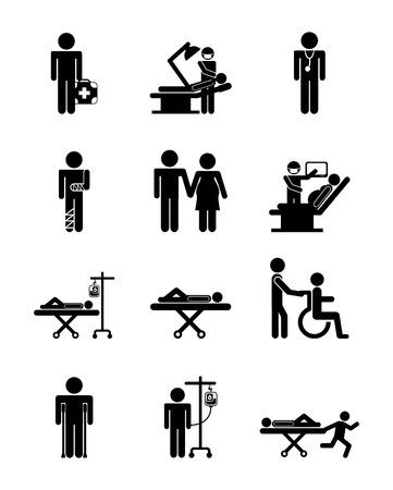 Conception médicale sur fond blanc, illustration vectorielle Banque d'images - 30224278