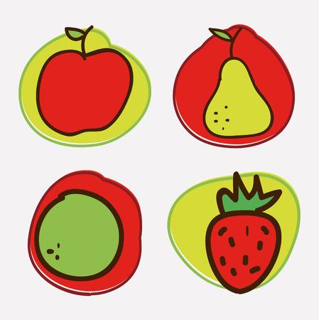 fruits design  over white background vector illustration