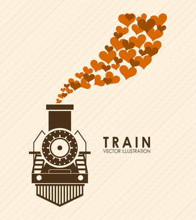 modern train: train design over pink background vector illustration
