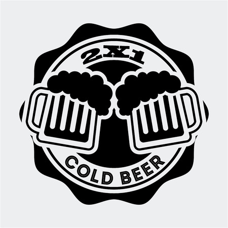 liquid x: beer design over white background vector illustration