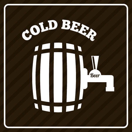 beer design over brown  background vector illustration Vector