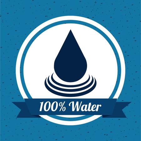 enviromental: dise�o del agua sobre fondo azul ilustraci�n vectorial Vectores