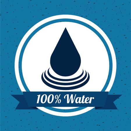 enviromental: water design over blue background vector illustration
