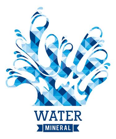 enviromental: dise�o del agua sobre el fondo blanco ilustraci�n vectorial Vectores