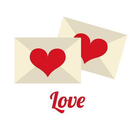 enveloped: love design over white background vector illustration Illustration