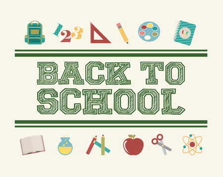 school design over white background vector illustration Stock Vector - 30219183