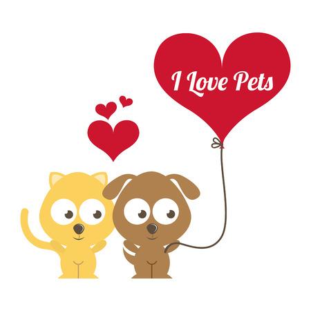 pets design over white background vector illustration Vector